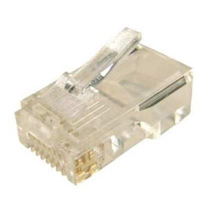 Picture of DYNAMIX RJ45 Plug 20pc Bag, 8P8C Modular Plug (Round, Solid).