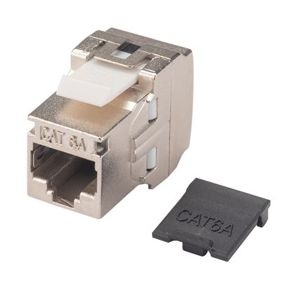 Picture of DYNAMIX Cat6A Side Entry Shielded Keystone Slimline Jack.