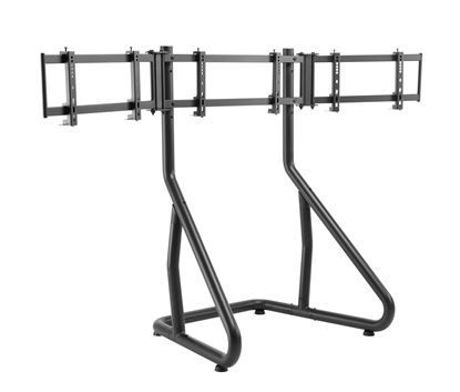 Picture of BRATECK Gaming Height Adjustable Triple Monitor Stand Designed for