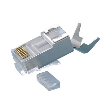 Picture of PLATINUM TOOLS Cat6A Shielded Plug. 10G plug for Cat6A shielded cable.