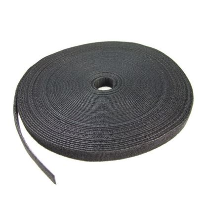 Picture of DYNAMIX Hook & Loop Roll 20m x 20mm dual sided, BLACK colour