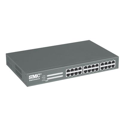Picture of SMC 24 Port Gigabit Unmanaged Switch. 10/100/1000Mbps Includes
