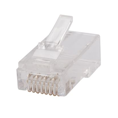 Picture of DYNAMIX Cat6 RJ45 Plug 20pc Bag, 8P8C 2 Piece Modular Plug (Rounded