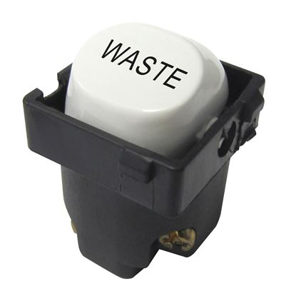 Picture of TRADESAVE 16A 2-Way Labelled WASTE Mechanism. Suits all
