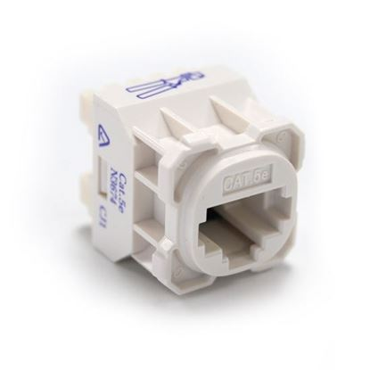 Picture of AMDEX Cat5e RJ45 Jack for AMDEX Face Plates. T586A Wiring Only.