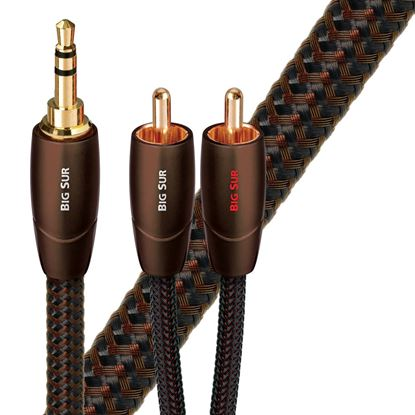 Picture of AUDIOQUEST Big Sur 1.5M 3.5mm to 2 RCA. Solid perf surface Copper