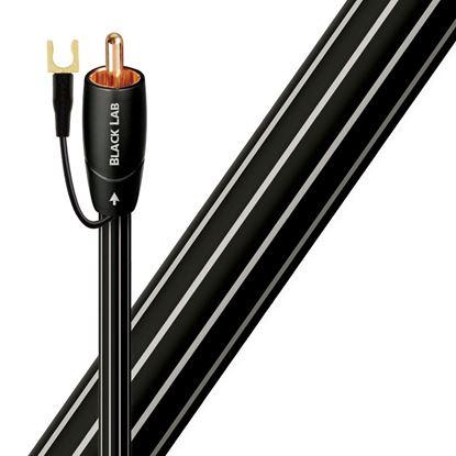 Picture of AUDIOQUEST Black lab 5M subwoofer cable. Long grain copper (LGC)