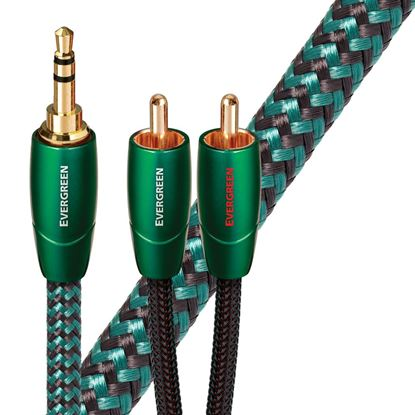 Picture of AUDIOQUEST Evergreen .6M 3.5mm to 2 RCA. Solid Long Grain Copper