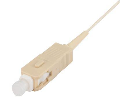 Picture of DYNAMIX 2M SC Pigtail OM3 1x Piece White, 900um Multimode Fibre,