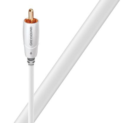 Picture of AUDIOQUEST Greyhound 5M subwoofer cable. 0.5% silver.