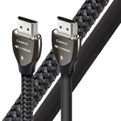 Picture of AUDIOQUEST Carbon 5M HDMI cable. 5% silver. Solid conductors.