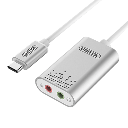 Picture of UNITEK USB-C to Stereo Audio Converter. DAC Supports up to