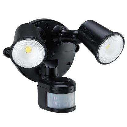 Picture of HOUSEWATCH 10W Twin LED Spotlight with Motion Sensor. IP54.