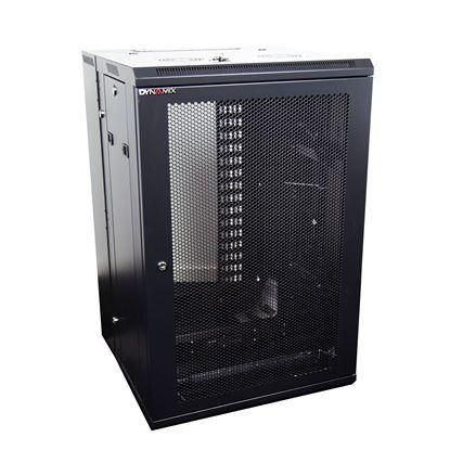 Picture of DYNAMIX 18RU 600mm Deep Universal Swing Wall Mount Cabinet. 200mm