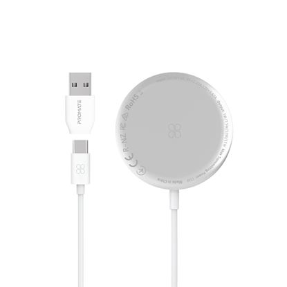 Picture of PROMATE 15W Quick Charging Magnetic Ultra-Slim Wirelss Charger with