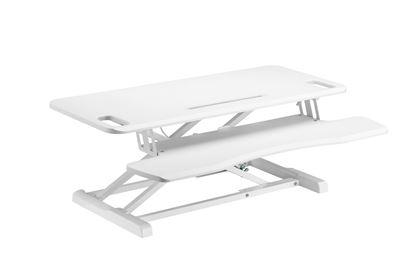 Picture of BRATECK Gas-Spring Scissor Lift Desktop Sit-Stand Workstation.