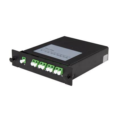 Picture of DYNAMIX PLC Fibre Optic 1:8 LC/APC Splitter Cassette Module.
