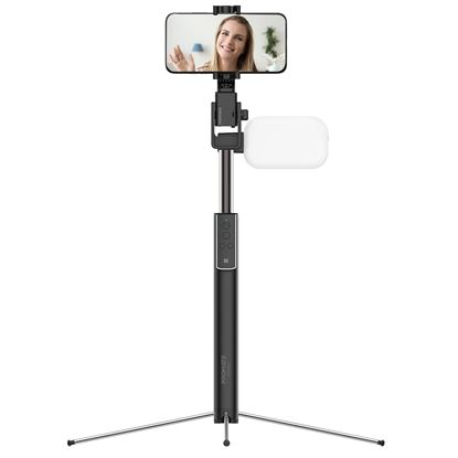 Picture of PROMATE Smart Selfie Monopod Stand with LED Light. Includes Bluetooth