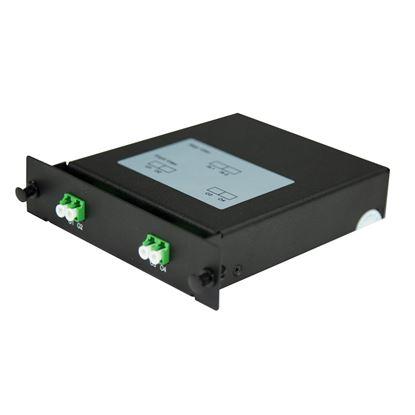 Picture of DYNAMIX PLC Fibre Optic 2:4 LC/APC Splitter NON-Cassette Rear Input