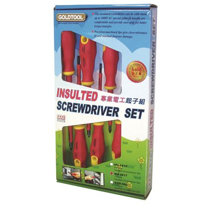 Picture of GOLDTOOL 7-Piece Electrical Insulated Screwdriver Set.