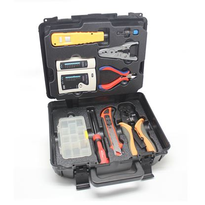 Picture of GOLDTOOL 9 Piece LAN Basic Repair Tool Kit with Heavy Duty Plastic