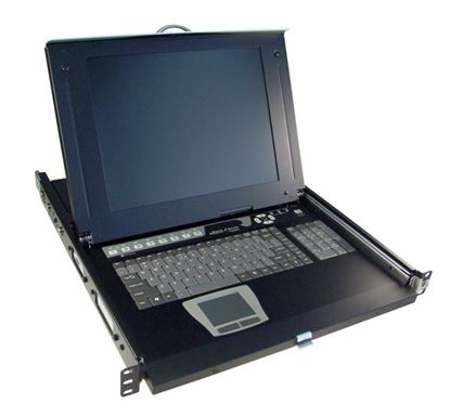 Picture of REXTRON All-in-1 Integrated LCD KVM Drawer. 8 Port, 19'' Screen Size.