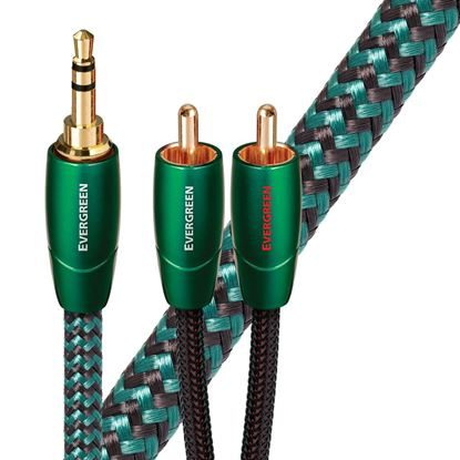 Picture of AUDIOQUEST Evergreen 2M 3.5mm to 2 RCA. Solid Long Grain Copper