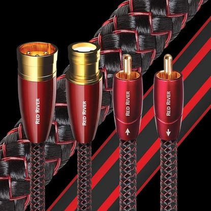 Picture of AUDIOQUEST Red River .75M  1 to 1 RCA male. Solid perf surface copper