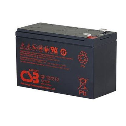 Picture of CSB 12v 7.2Ah 25W General Purpose Security Battery for Alarm Systems,