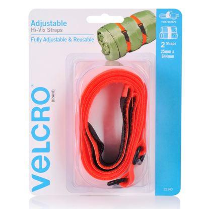 Picture of VELCRO Brand 25mm x 644mm 2 Pack Adjustable & Reusable Hi-Vis Straps