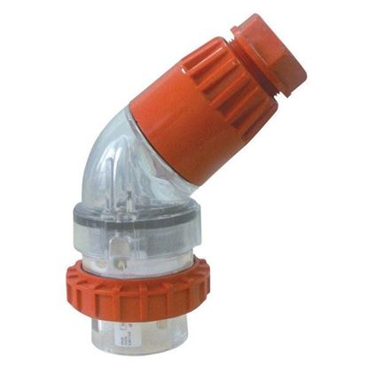 Picture of TRADESAVE Extension Plug Angled 5 Pin 32A Round, IP66, Stainless