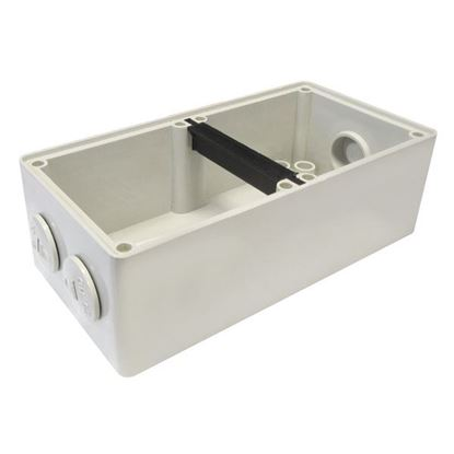 Picture of TRADESAVE Mounting Base 2 Gang IP66, Stainless Steel Cover