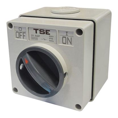 Picture of TRADESAVE Weatherproof Switch, 3 Pole 20A, IP66 Rating ,Stainless