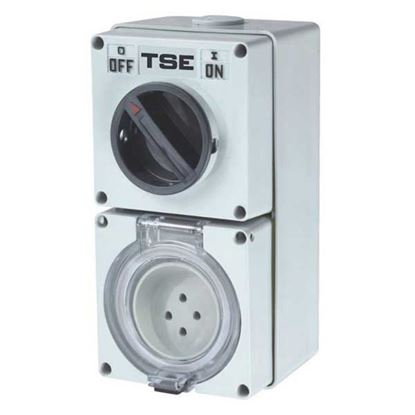 Picture of TRADESAVE Switched Outlet 4 Pin 20A Round, IP66 Stainless