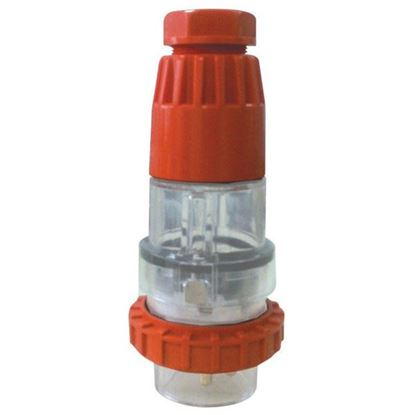 Picture of TRADESAVE Extension Plug Straight 3 Pin 15A Flat, IP66, Stainless