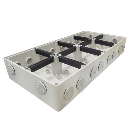 Picture of TRADESAVE Mounting Base 8 Gang IP66, Stainless Steel Cover