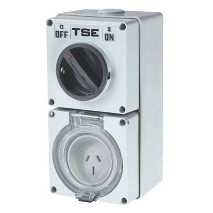 Picture of TRADESAVE Switched Outlet 5 Pin 50A Round, IP66 Stainless