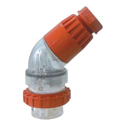 Picture of TRADESAVE Extension Plug Angled 4 Pin 10A Round, IP66, Stainless