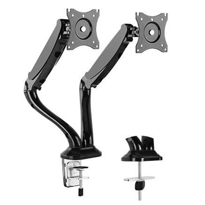 """Picture of BRATECK 13""""-27"""" Dual Monitor Counter Balance Desk Mount. Max"""