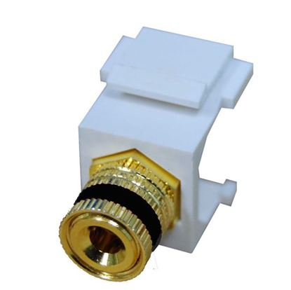 Picture of DYNAMIX Black Speaker Binding Post, Keystone Adapter. Gold Plated
