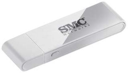 Picture of SMC 150Mbps Wireless-N USB-A Wi-Fi Adapter with WPS Button.